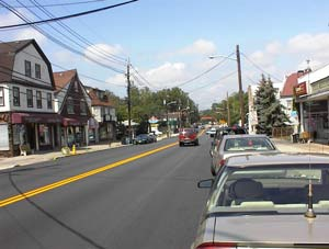 Cedar Grove business district on Route 23 in New Jersey