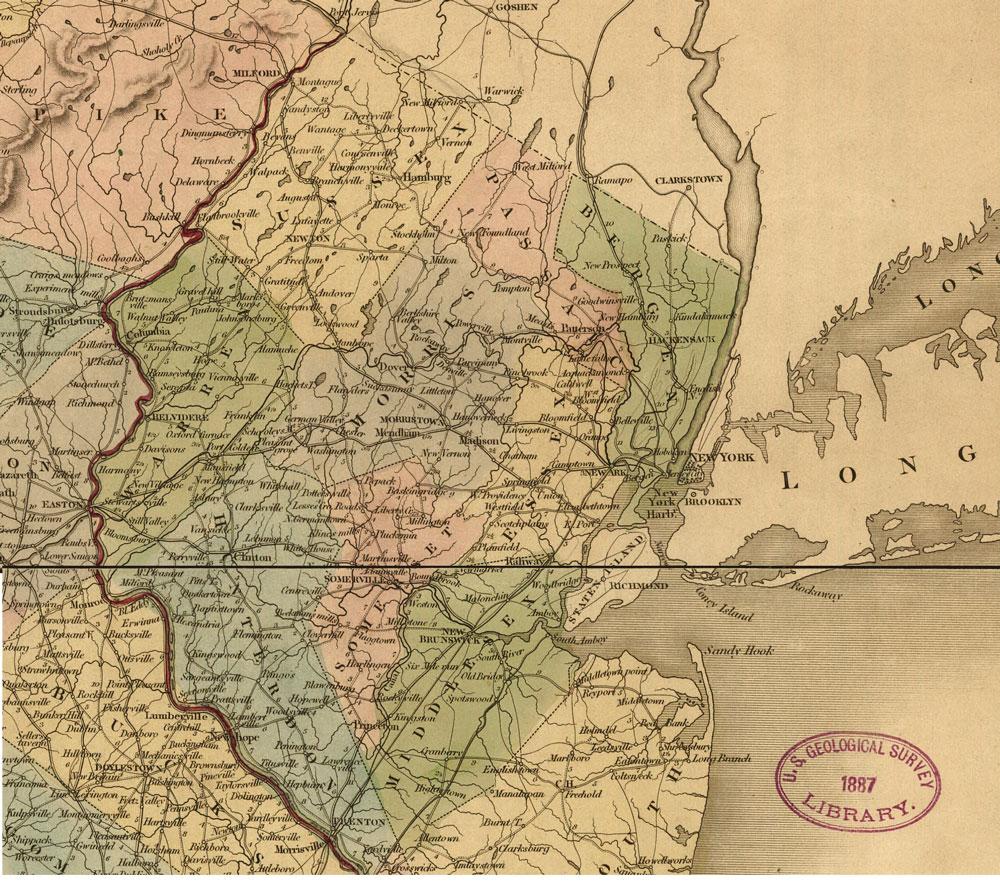 1839 Map of Northern New Jersey North Jerseys Internet Magazine